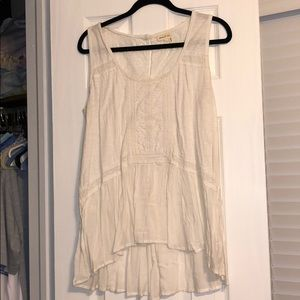 Anthropologie - White Tank with Detail